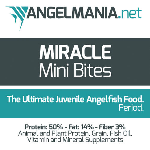 Miracle Mini Bites Angelfish Food 2.5 oz.